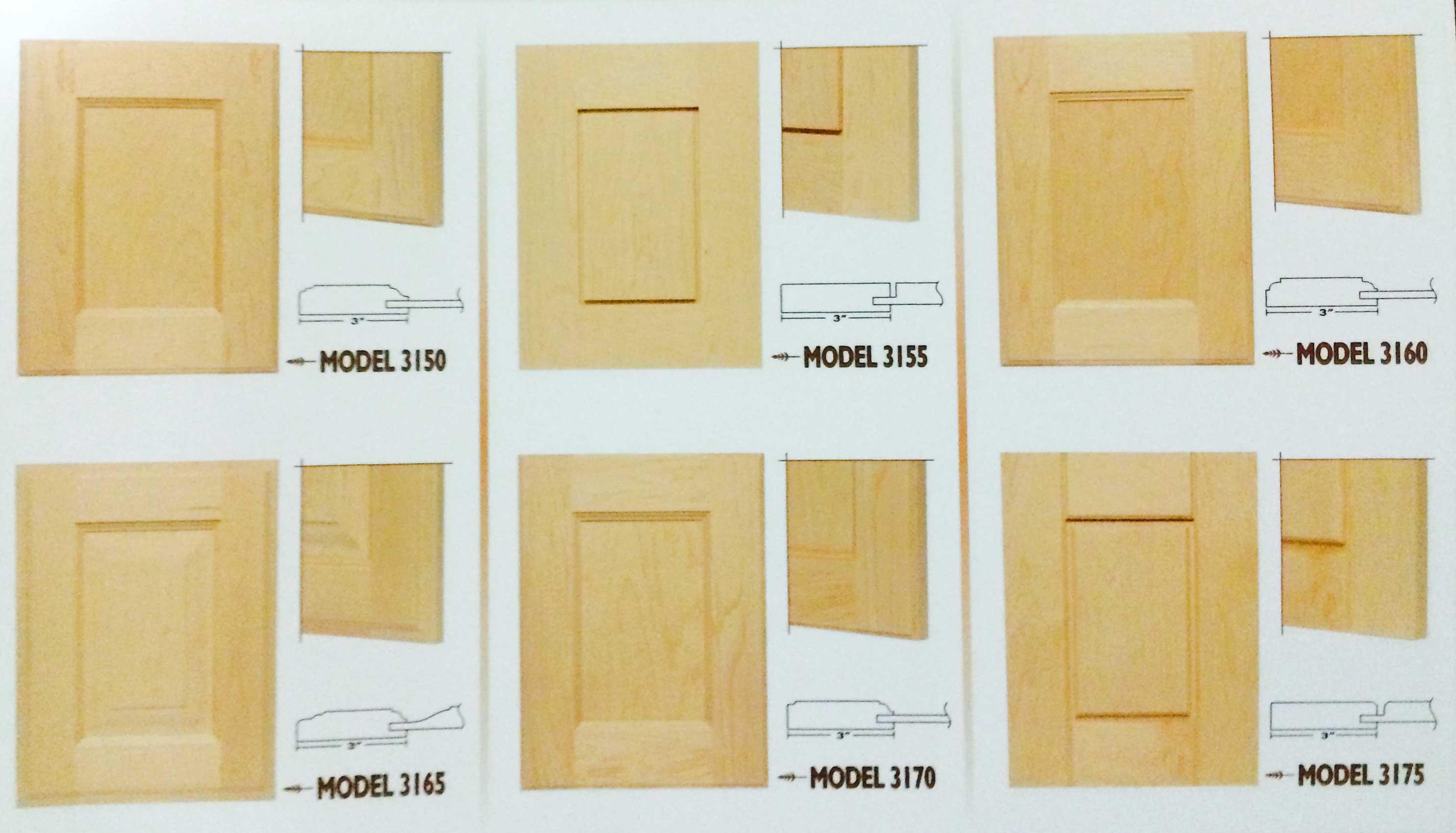 Calgary Custom Kitchen Cabinets Ltd Door Profiles
