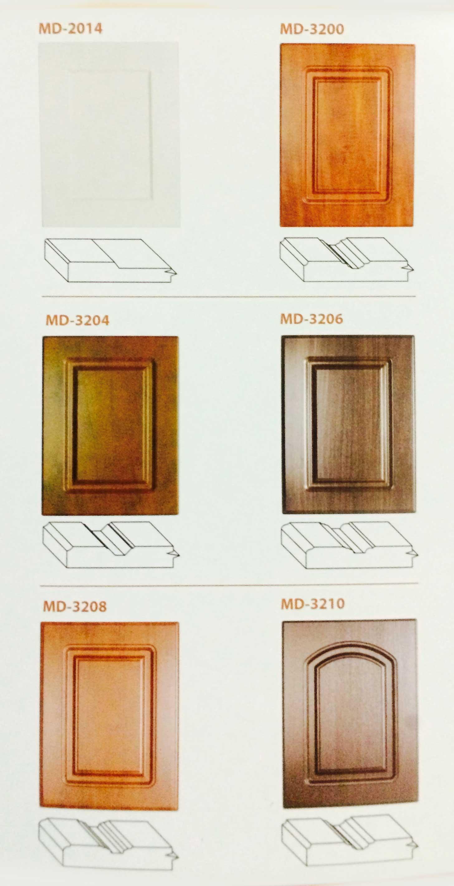 Calgary custom kitchen cabinets ltd door profiles for Custom kitchen cabinet doors